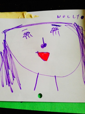My five year old's portrait of me.